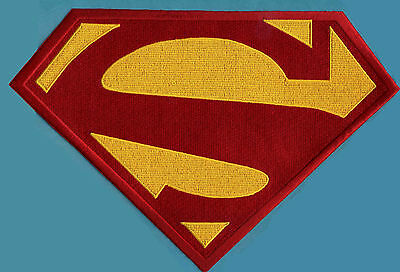 """7.8"""" x 11.75"""" X-Large Embroidered Superman New 52 Red & Yellow Chest Logo Patch"""