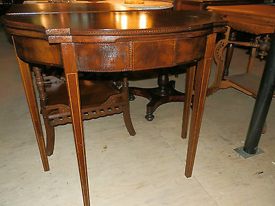 Beautiful Antique Gate Leg Console/games Table W/marquetry Inlaid Detail