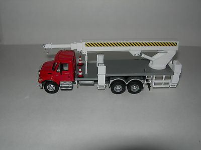 Custom Herpa Promotex Boley  Boom Truck CRANE Red International 7600 1/87  HO