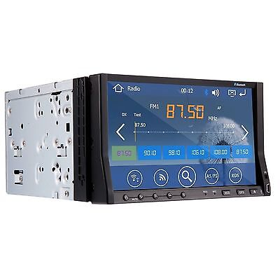 """7"""" Double 2 Din LCD Touch GPS Stereo Car DVD Player Radio Bluetooth iPod ATV"""