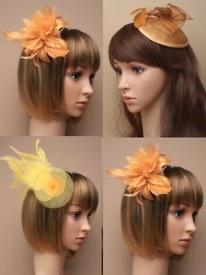 Gold Fascinator, Yellow, Cheapest On Ebay, Wedding, Races, Ascot Occasions Lot