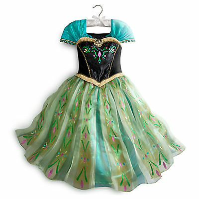 DISNEY STORE ANNA DELUXE CORONATION COSTUME Girls Size 4 XS NWTs FROZEN
