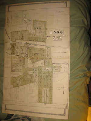 ANTIQUE 1919 FRANKLIN COUNTY UNION MISSOURI MAP ST CLAIR NEW HAVEN WASHINGTON NR
