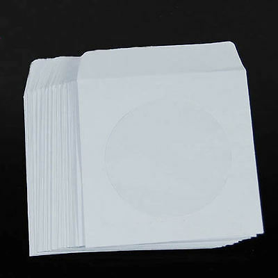 Lot of 50/100pcs Paper CD DVD Flap Sleeves Case Cover Envelopes 5inch