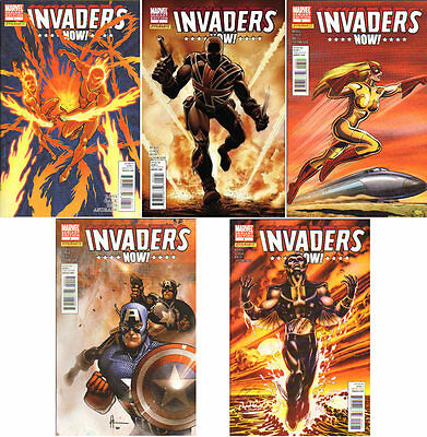 INVADERS NOW #1 #2 #3 #4 #5 VARIANT SET CAPTAIN AMERICA HUMAN TORCH SUB-MARINER