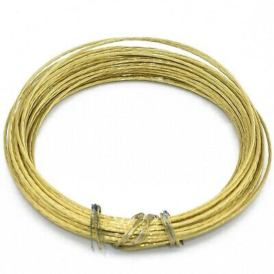 6 METERS BRASS PICTURE WIRE PHOTO FRAMES MIRRORS WALL HANGING DIY WIRE No. 1