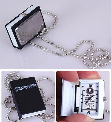 Death Note Book Style Necklace Watch Unisex Anime Cosplay Costume