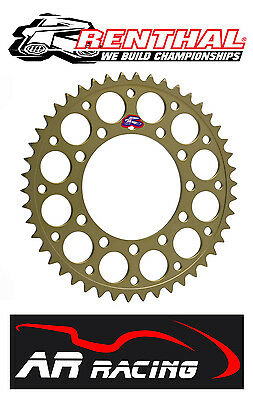 Renthal 43T Rear Sprocket 411-520-43HA Honda CBR1000RR Fireblade 08-14 520 Pitch