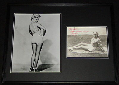 Betty Grable Signed Framed 18x24 Photo Display AW