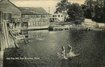 East Boothbay ME Old Tide Mill - Postcard