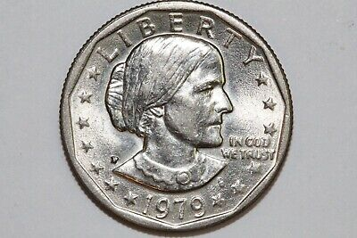 Wide Rim Mint State 1979-P Susan B. Anthony Dollar (SBA115)