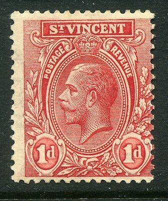 ST.VINCENT;   1913 early GV issue fine Mint hinged value  1d. shade