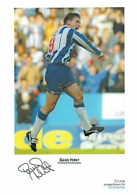 David HIRST Signed Autograph Ltd Edition Print Sheffield Wednesday AFTAL COA