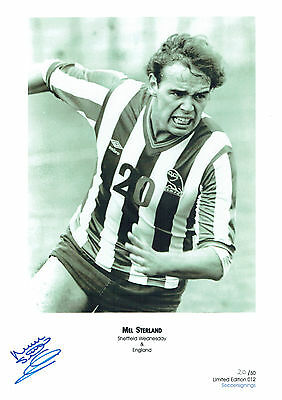 Mel STERLAND Signed Autograph Ltd Edition Print Sheffield Wednesday AFTAL COA