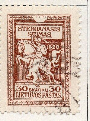 Lithuania 1920 Early Issue Fine Used 30s. 104421