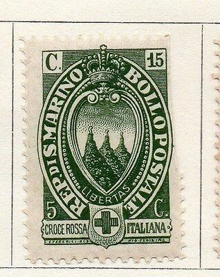 San Marino 1923 Early Issue Fine Mint Hinged 15c. 104669