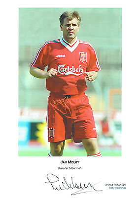 Jan MOLBY Signed Autograph Ltd Edition A3 Print Liverpool AFTAL COA