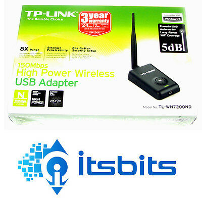 Tp-Link Tl-Wn7200Nd  Wireless N Usb High Power Network  Adaptor 150Mbps 2.4Ghz