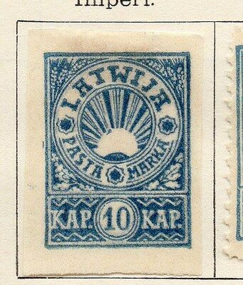 Latvia 1919 Early Issue Fine Mint Hinged 10k. 105986