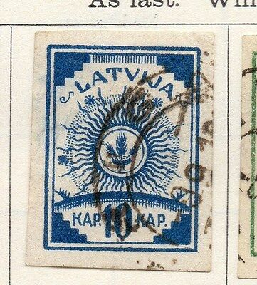 Latvia 1919 Early Issue Fine Used 10k. 105977