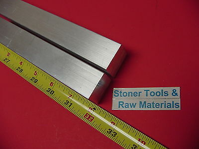 """2 Pieces 1"""" X 1"""" ALUMINUM 6061 SQUARE BAR 32"""" long T6511 Solid New Mill Stock"""
