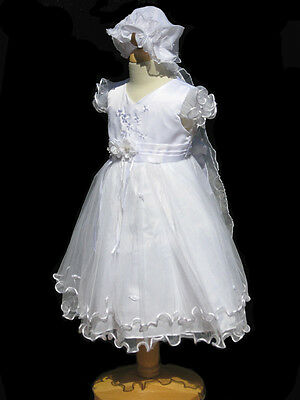 Infant ,Toddler Girl Christening, Baptism White Dress , Sz X-Small to 4T