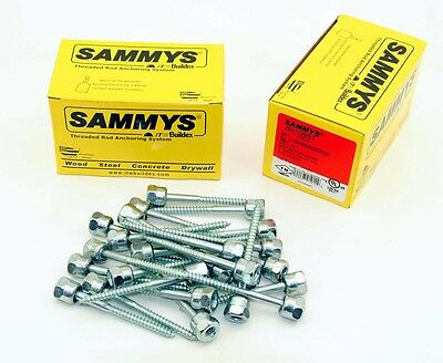 (25) Sammys 3/8-16 x 3 Threaded Rod Hanger for Wood 8010957