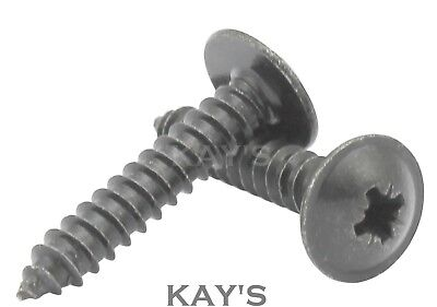 Flange Head Self Tapping Screws, Black Phosphate Flanged Tappers, 6,8,10 Gauge