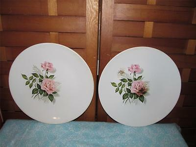 ~VINTAGE TWO DINNER PLATES BY TAYLOR, SMITH TAYLOR WHITE RADISH~