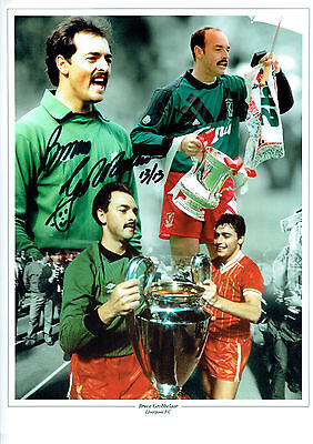 Bruce GROBBELAAR SIGNED Autograph 16x12 Photo AFTAL COA Liverpool Anfield Legend