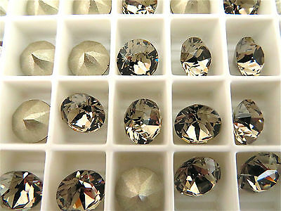 12 Greige Foiled Swarovski Crystal Chaton Stone 1088 39ss 8mm Chatons