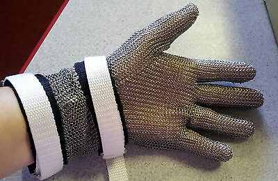 Stainless Steel Mesh Hand Glove Butcher Safety Cut Resistant Food Preparation M