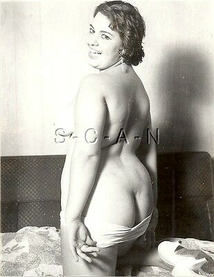 Original Vintage 1950s-60s Nude RP- Heavy Set Woman- Well Endowed- Shows Butt