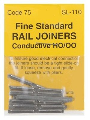 PECO SL-110 - 24 x 00 Gauge Code 75 Fine Scale Fishplates Track Joiners 2nd Post