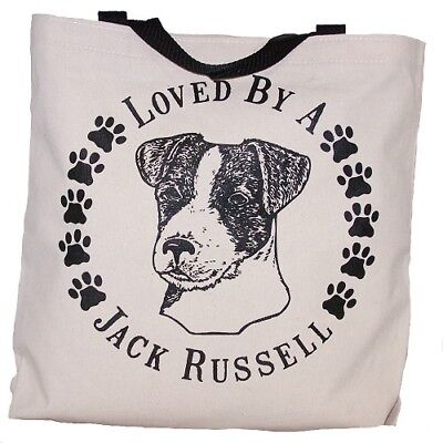 Loved By A Jack Russell  Terrier Tote Bag New  MADE IN USA