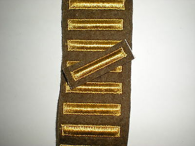 Wwii Us Army Overseas Service Bars  - Od Wool - 1 Bar - See Description
