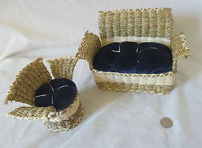 Sofa & Chair, Victorian style baskets - Molly Neptune Parker, Passamaquoddy