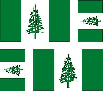 Set of 4x sticker vinyl car bumper decal outdoor car moto NORFOLK ISLAND flag