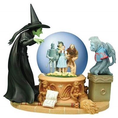 Wizard of Oz Wicked Witch Peering at Dorothy Foursome 100mm Musical Water Globe