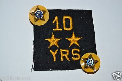 WOW Vintage 10 Year AMERICAN LEGION Veterans Group Patch 2&3 Pins Lot Rare