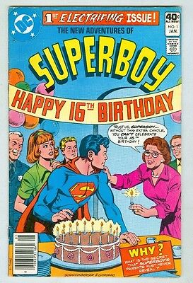 Superboy #1 January 1980 VG+ First Issue