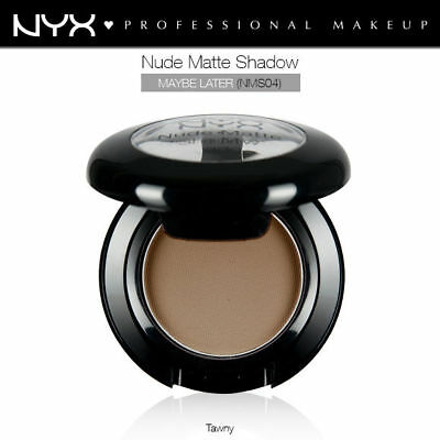 Nyx Nude Matte Eye Shadow #nms04 Maybe Later Tawny Brown Natural Base