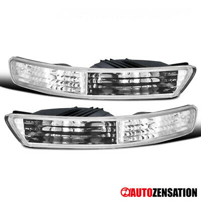 98-01 Acura Integra Clear Bumper Lights Park Turn Signal Lamp