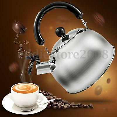 2 Liter Stainless Steel Whistling Tea Induction Kettle Water Pot Heat Boiler