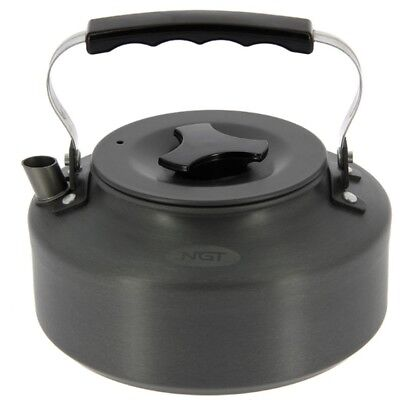NGT Fishing Camping Kettle 1.1 Litre Gun Metal Aluminium Kettle