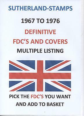 d2 - FDCs  GB 1967 to 1976 Definitive First Day Covers - FDC MULTIPLE LISTING