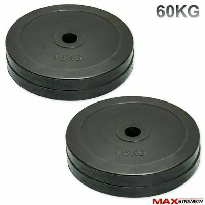 "40kg Rubber Weight Plates 2"" Hole Olympic Bar Body Building Gym Training Workout"