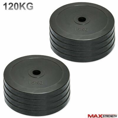 "Olympic Bumper Rubber Disc Weight Plates Barbell Bar 2"" Crossfit Gym 80kg Set"