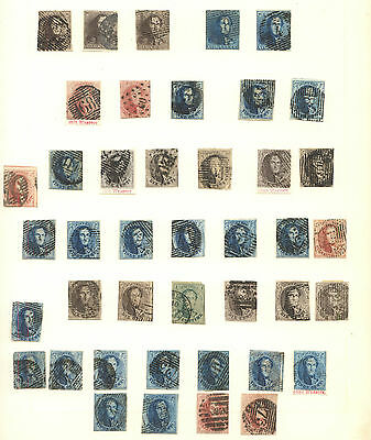 Belgium  collection of early used  stamps  selected     KL1130
