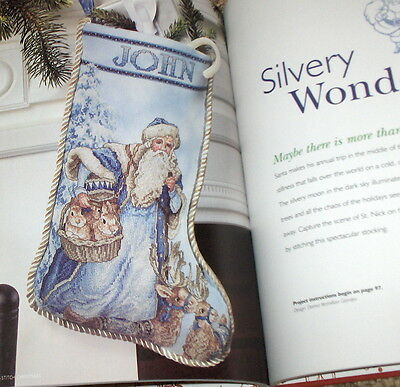 """Handmade Holiday"" Christmas Cross Stitch Pattern Book - Stockings Santa Angels+"